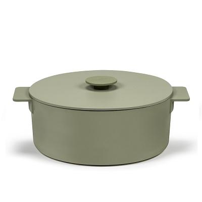 Braadpan groen 29cm h14 5,50l