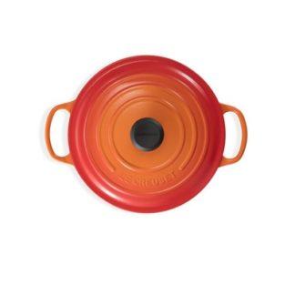 Braadpan hoog Oranjerood 24cm