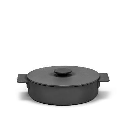 Braadpan zwart 26cm h9,5 2,60l