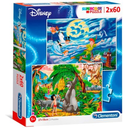 Puzzel Peter Pan en Jungle Book, 2x60st.