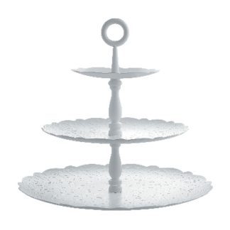 ALESSI - Dressed - Etagere 3-laags wit