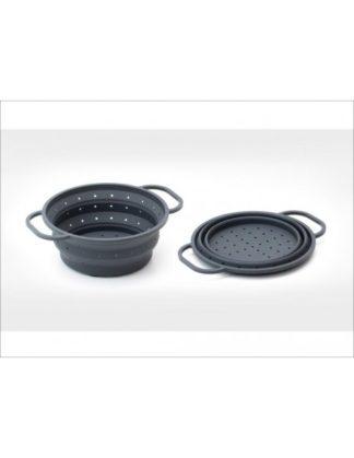 HOMIEZ - Keukenhulpen - Vergiet opvouwbaar 25cm grijs