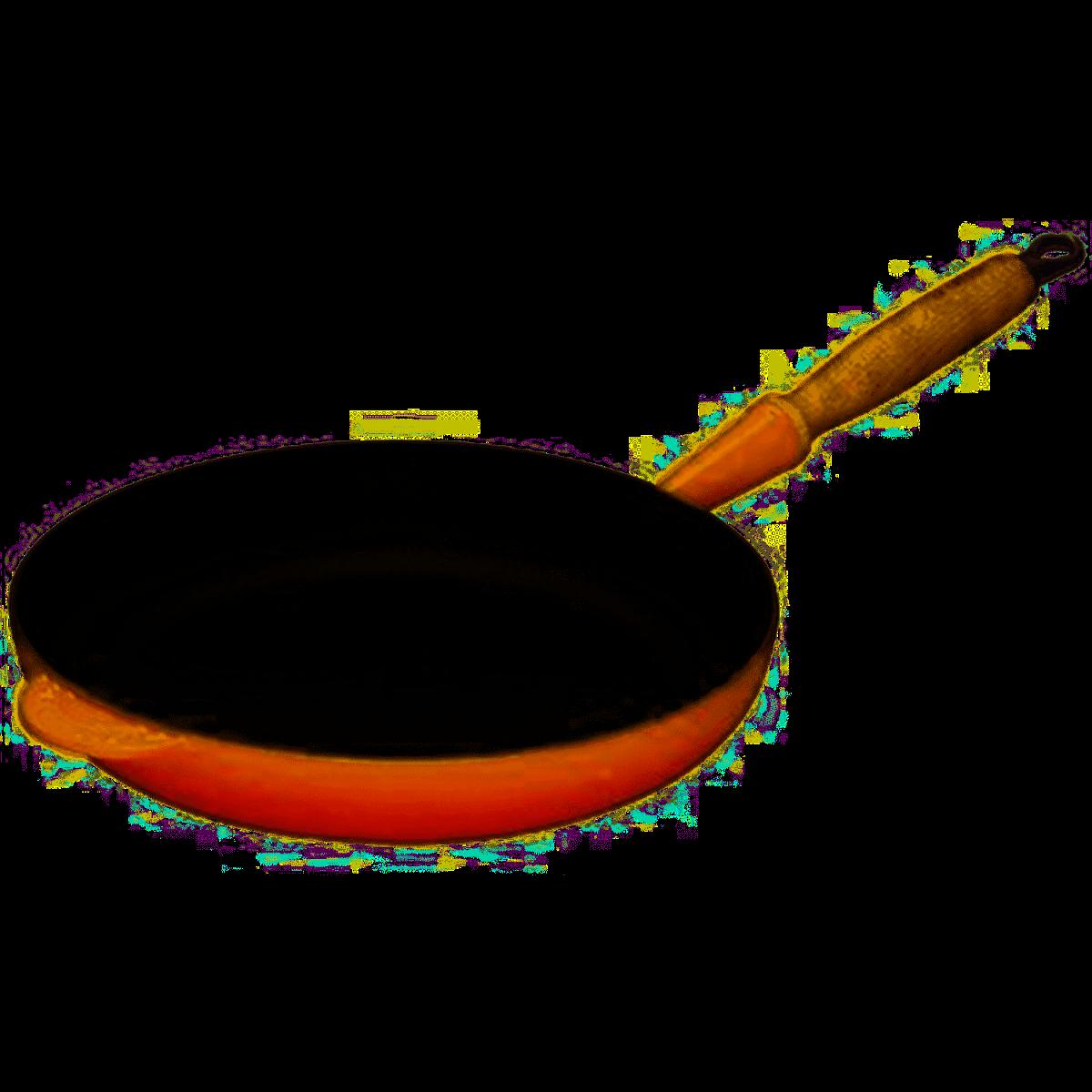 LE CREUSET - Gietijzer - Koekenpan 26cm Oranjerood