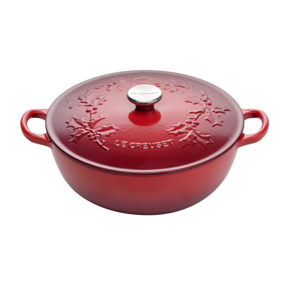 LE CREUSET - Holly Collection - Braadpan Marmite 26cm Holly Kersenr