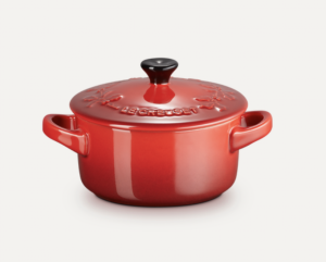 LE CREUSET - Holly Collection - Mini Braadpan 10cm Holly Kersenrood