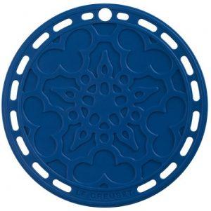 LE CREUSET - Siliconen - Onderzetter 20cm Marseilleblau