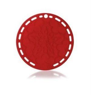 LE CREUSET - Siliconen - Onderzetter 20cm Rood