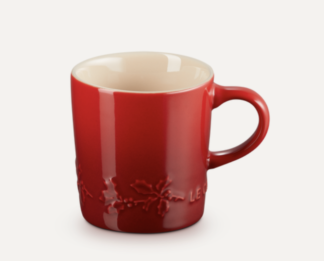 LE CREUSET - Holly Collection - Koffiebeker 0,20l Holly Kersenrood