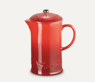 LE CREUSET - Holly Collection - Koffiepot met pers 1,00l Holly Kers