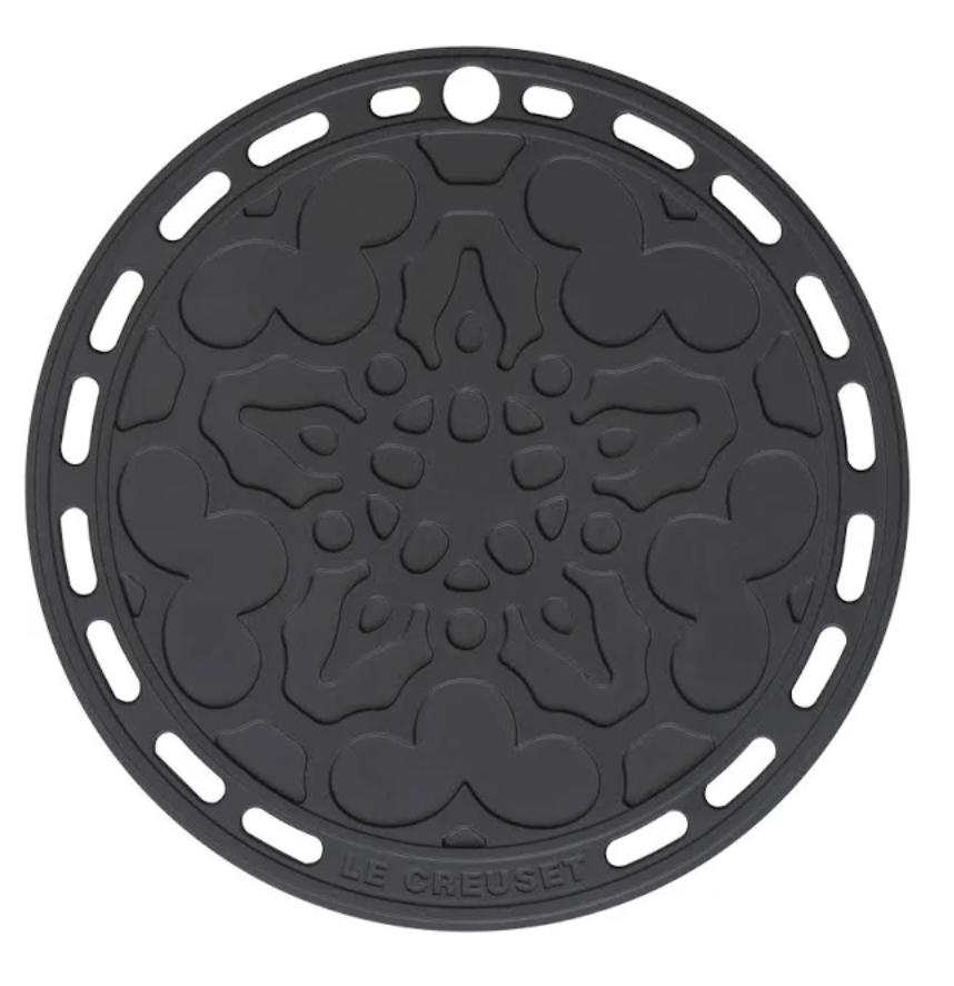 LE CREUSET - Siliconen - Onderzetter Ebbenzwart 20cm