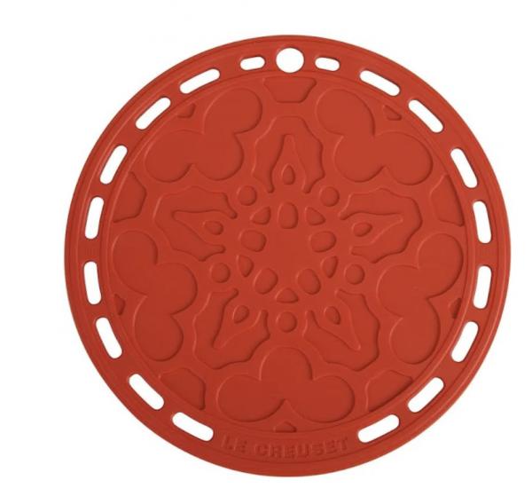 LE CREUSET - Siliconen - Onderzetter Kersenrood 20cm