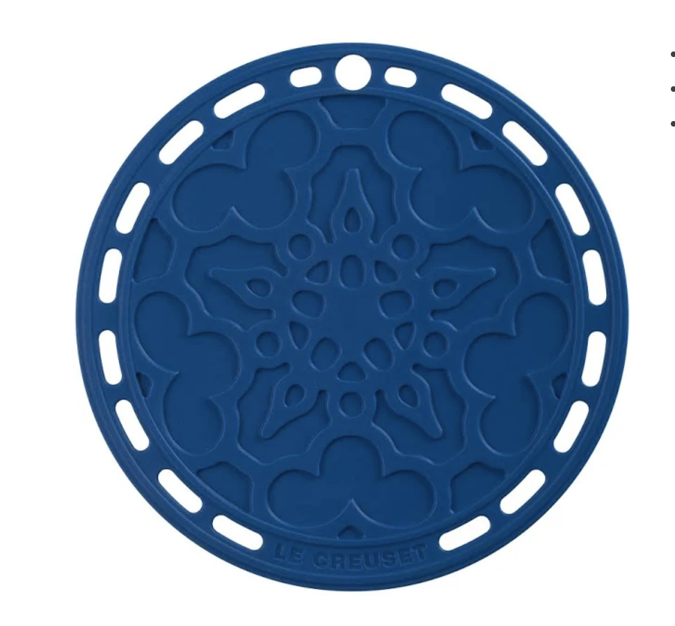 LE CREUSET - Siliconen - Onderzetter Marseilleblauw 20cm
