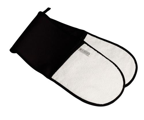 LE CREUSET - Keukentextiel - Dubbele ovenwant Zwart