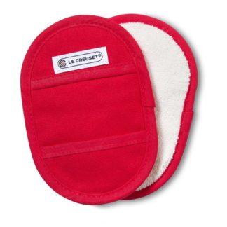 LE CREUSET - Textiel - Pannenlappen s/2 Kersenrood